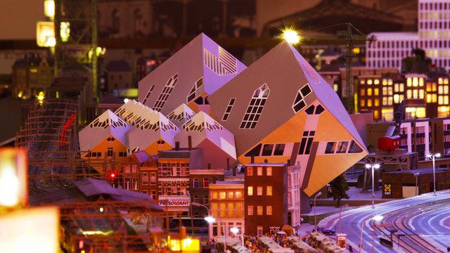 Kubuswoningen in Miniworld Rotterdam