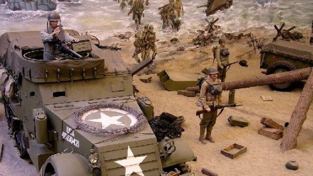D-Day nagebootst in het oorlogsmuseum
