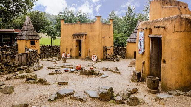 Afrikaans dorp bij het Afrika Museum