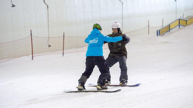 Volg een snowboardles in Nederland