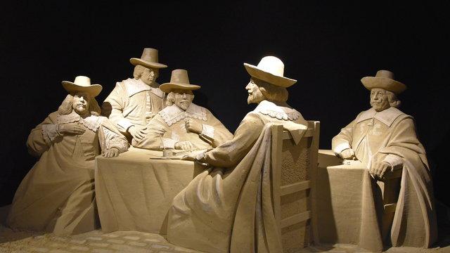 Zandsculpturen Hollandse meesters