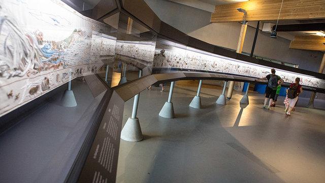 Tijdlijn in museum Batavialand