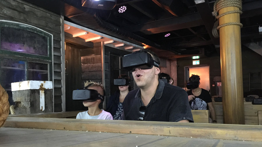 Virtual reality bril bij Experience Volendam