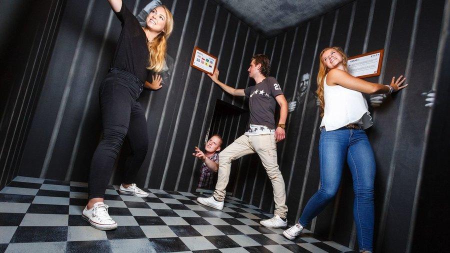 Vrienden in escape room