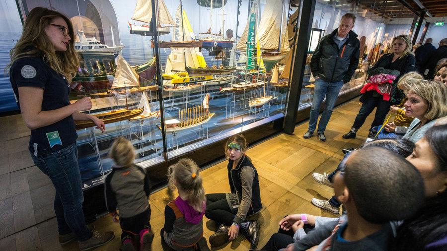 Het scheepvaartmuseum rondleiding met kinderen