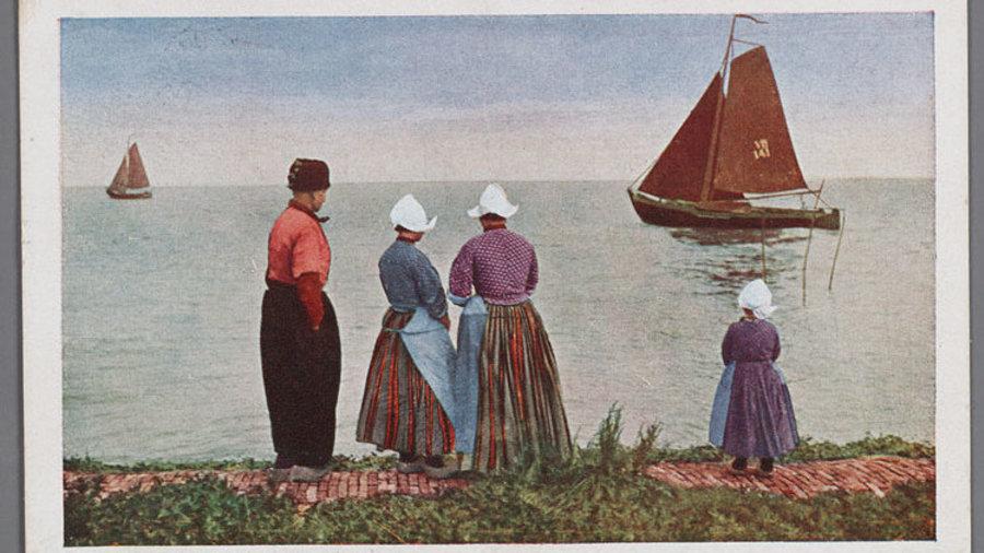 Ansichtkaart Zuiderzee klederdracht