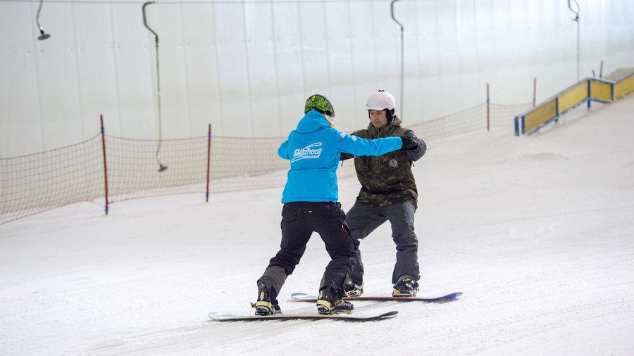Volg een snowboardles en leer snowboarden in Nederland
