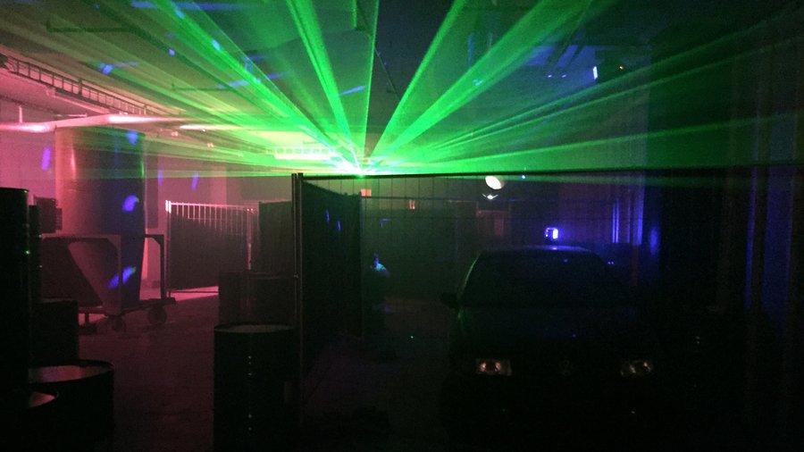Gekleurde laserlampen bij Laserloods Nijmegen