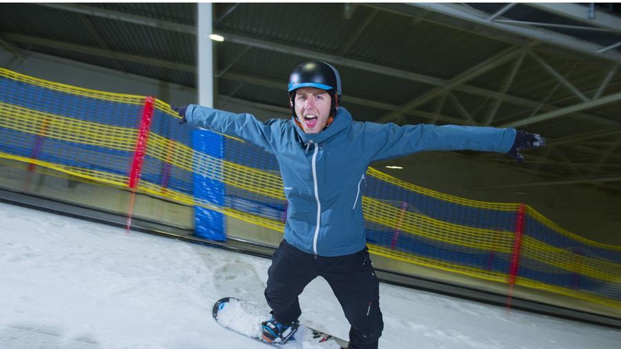 Leren snowboarden bij Skidôme Terneuzen.