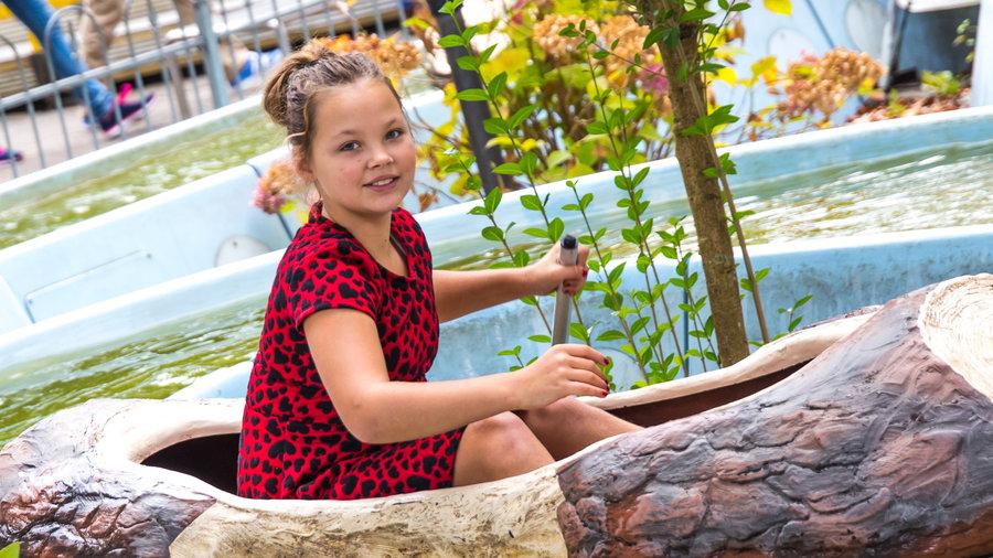 Meisje in Venture River