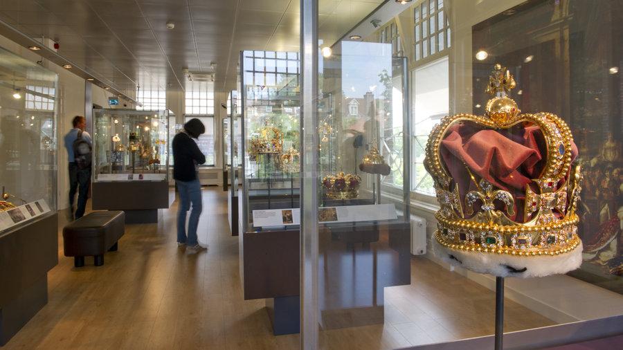 De toonzaal van het Diamant Museum Amsterdam