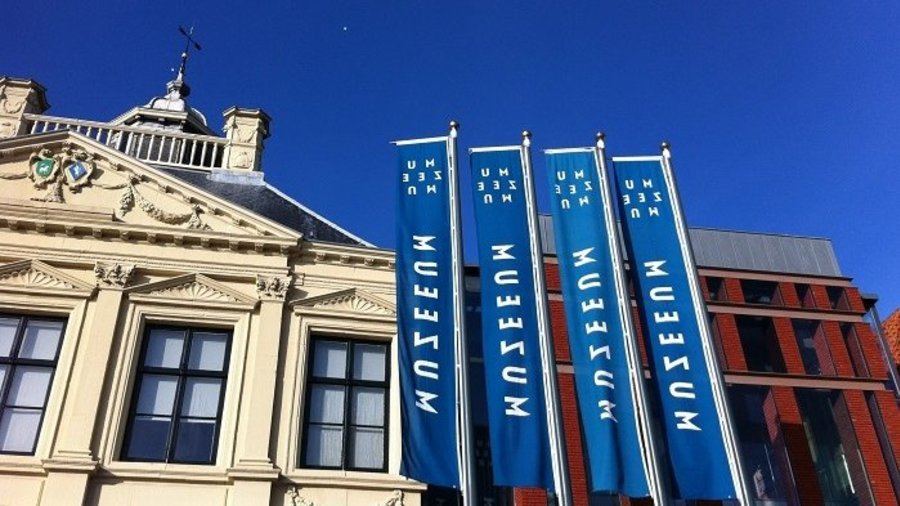 Gevel van het MuZEEum in Vlissingen