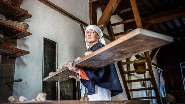 De bakker aan het werk in Archeon