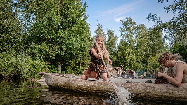 Kanoën in Archeon