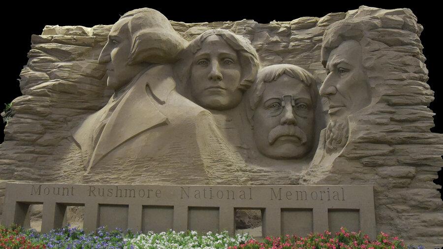 Mount Rushmore van zand