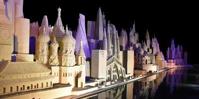 Iconische gebouwen van over de hele wereld in één skyline