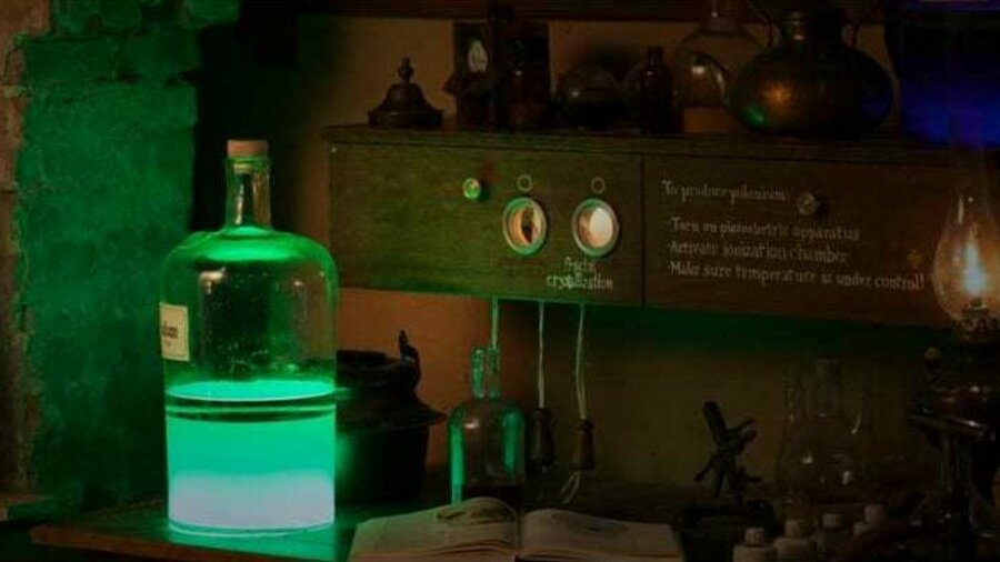 Lichtgevende fles
