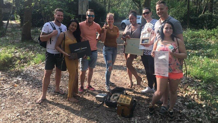 Groep speelt Legenda Basilicae Hoeven outdoor game