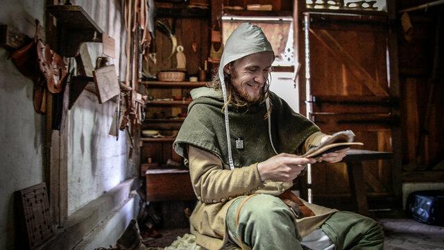 Middeleeuwen ambacht demonstratie Museumpark Archeon