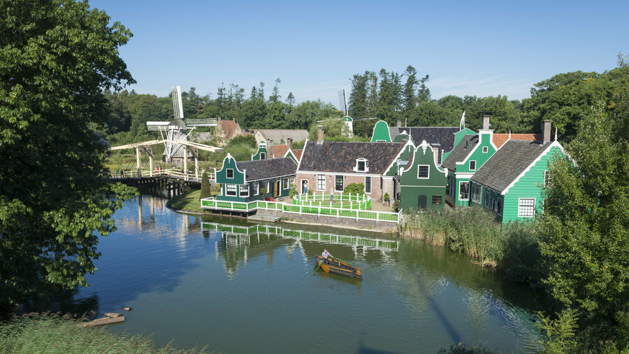 Zaanse huisjes in Nederlands Openluchtmuseum Arnhem