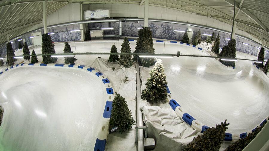 Karten op ijs bij IceKart Rucphen