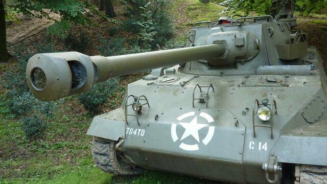 M18 Hellcat Tank bij Oorlogsmuseum Overloon