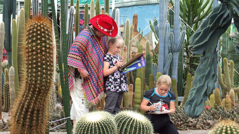 Kinderen tijdens een kinderfeestje bij CactusOase