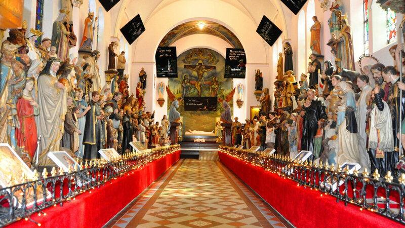 Heiligenbeelden in Museum Vaals Limburg Foto: Museum Vaals