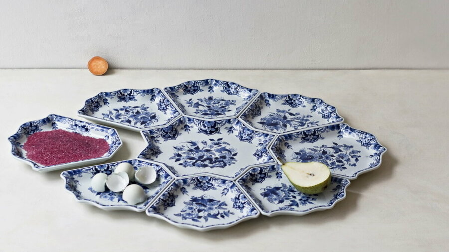 Delfts Blauw servies in Royal Delft Experience