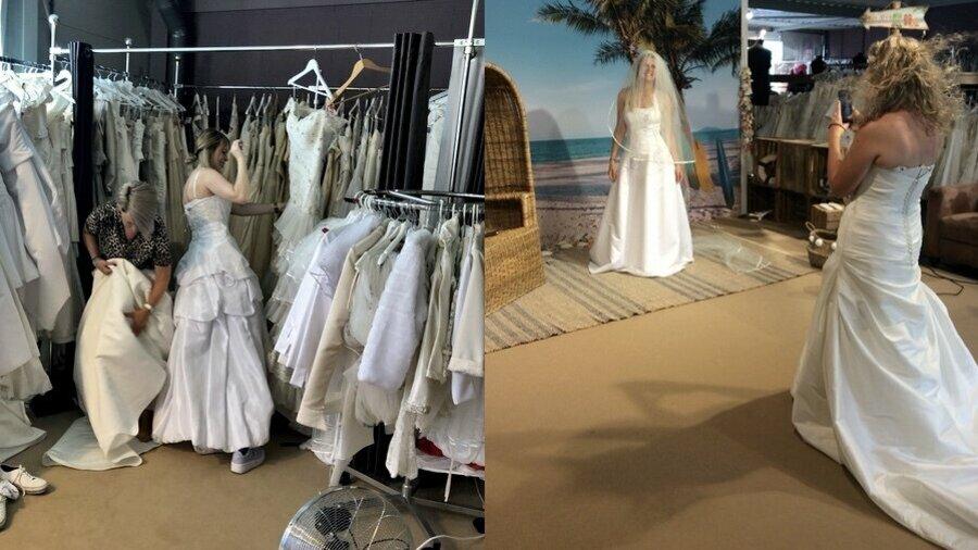 Ga voor de lol bruidsjurken passen