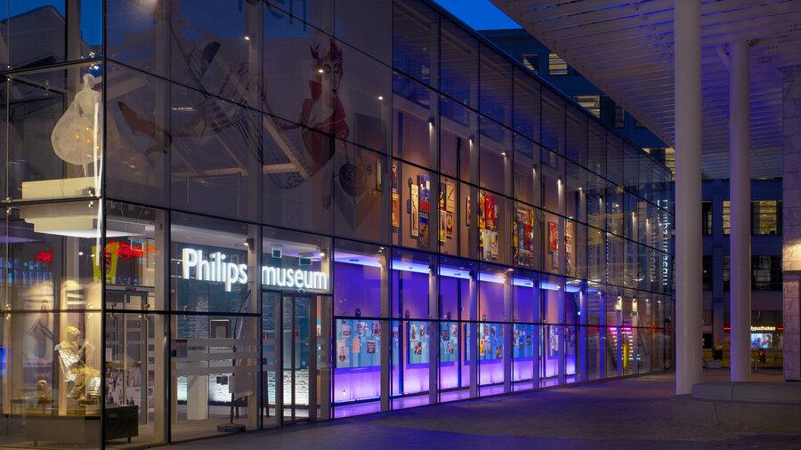 Philipsmuseum van buiten gezien.
