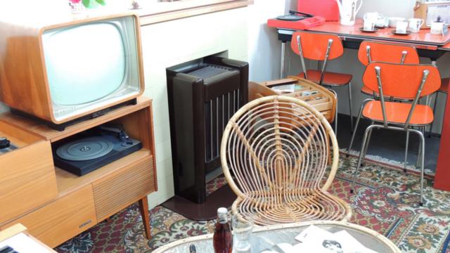 Huiskamer jaren 60 bij het Museum van de Twintigste Eeuw