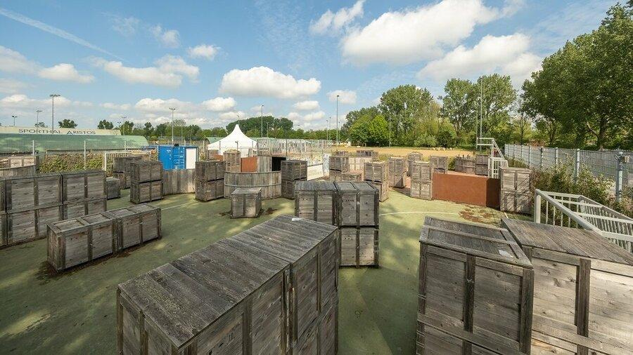 Speelveld bij Lasertag Amsterdam