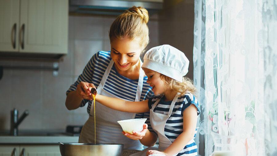 Koken met kinderen.