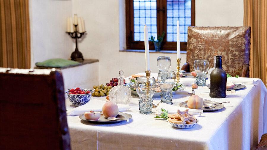 De tafel is gedekt op Kasteel Doorwerth
