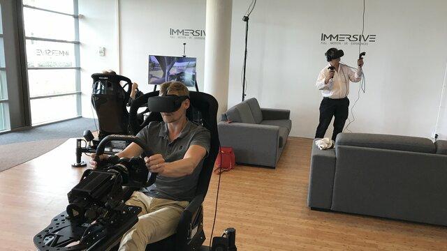 Immersive, bestuurder VR experience Virtual Reality