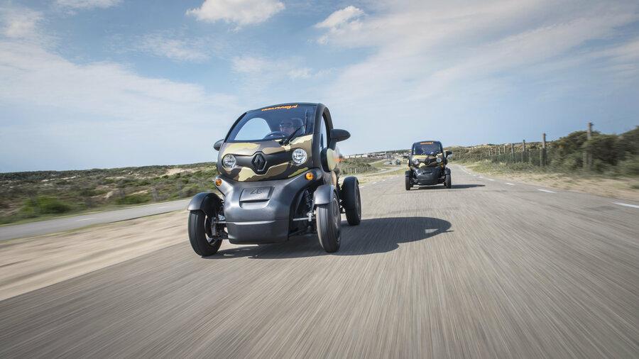 Renault Twizy in de duinen