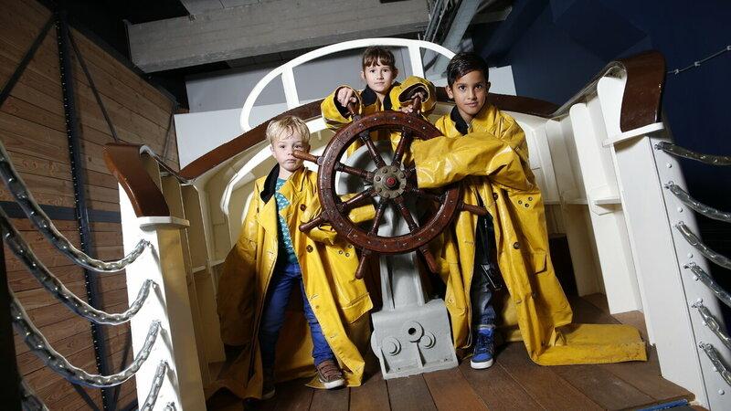 Kinderen in Nationaal Reddingsmuseum Dorus Rijkers