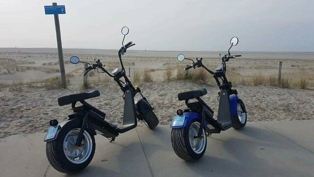 E-Choppers op het strand. Huur een E-Chopper van Spyder Wheelz en verken de regio