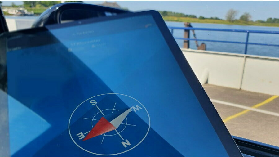 Kompas in de app RLLY