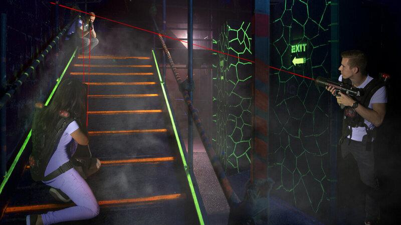 Kom lasergamen in Nijmegen Foto: Foto: Tess Oostvogel