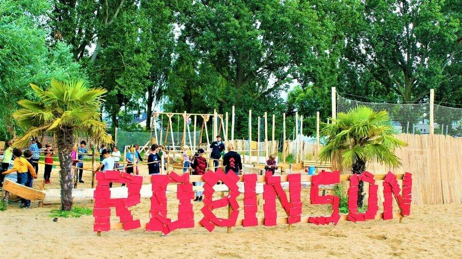 Expeditie Robinson voor kinderen op Zomerkamp Amsterdam