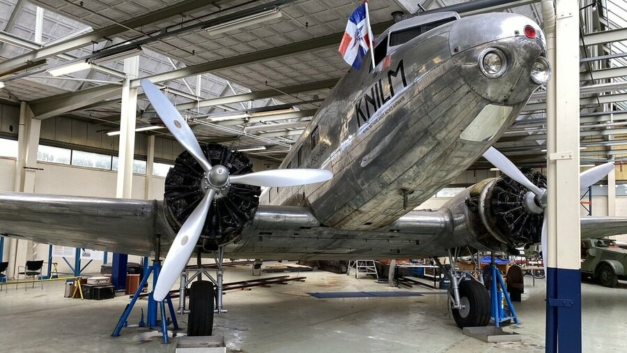 KNILM vliegtuig Nederlands Transport Museum Nieuw-Vennep Noord-Holland