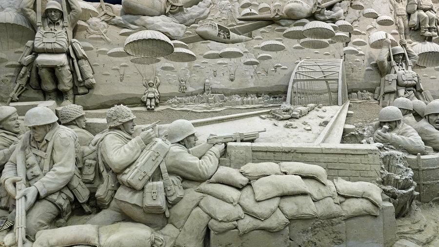 Zandbeeld Slag om Arnhem 't Veluws Zandsculpturenfestijn