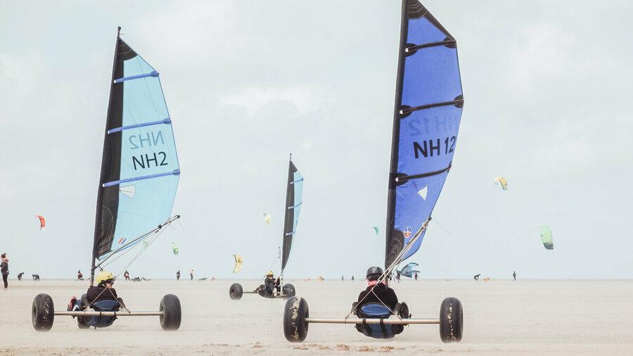 Blokarting op het strand van Ouddorp met Natural High