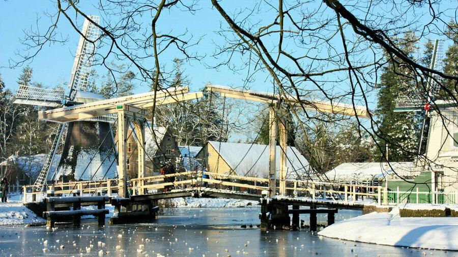 Ook in de winter is het prachtig wandelen in het Nederlands Openluchtmuseum