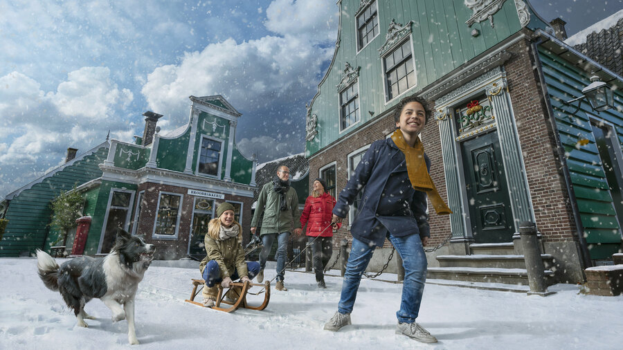 Oer-Hollandse wintertaferelen in het Nederlands Openluchtmuseum