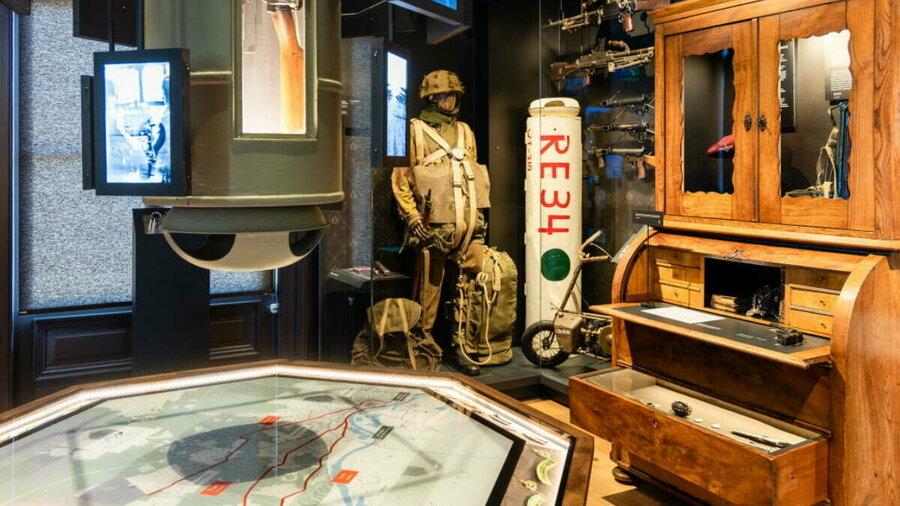 Voorwerpen in de vaste tentoonstelling van Airborne Museum Hartenstein
